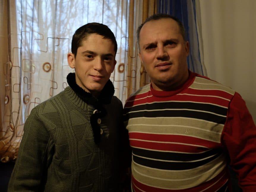 Jetmir Murati und Sohn