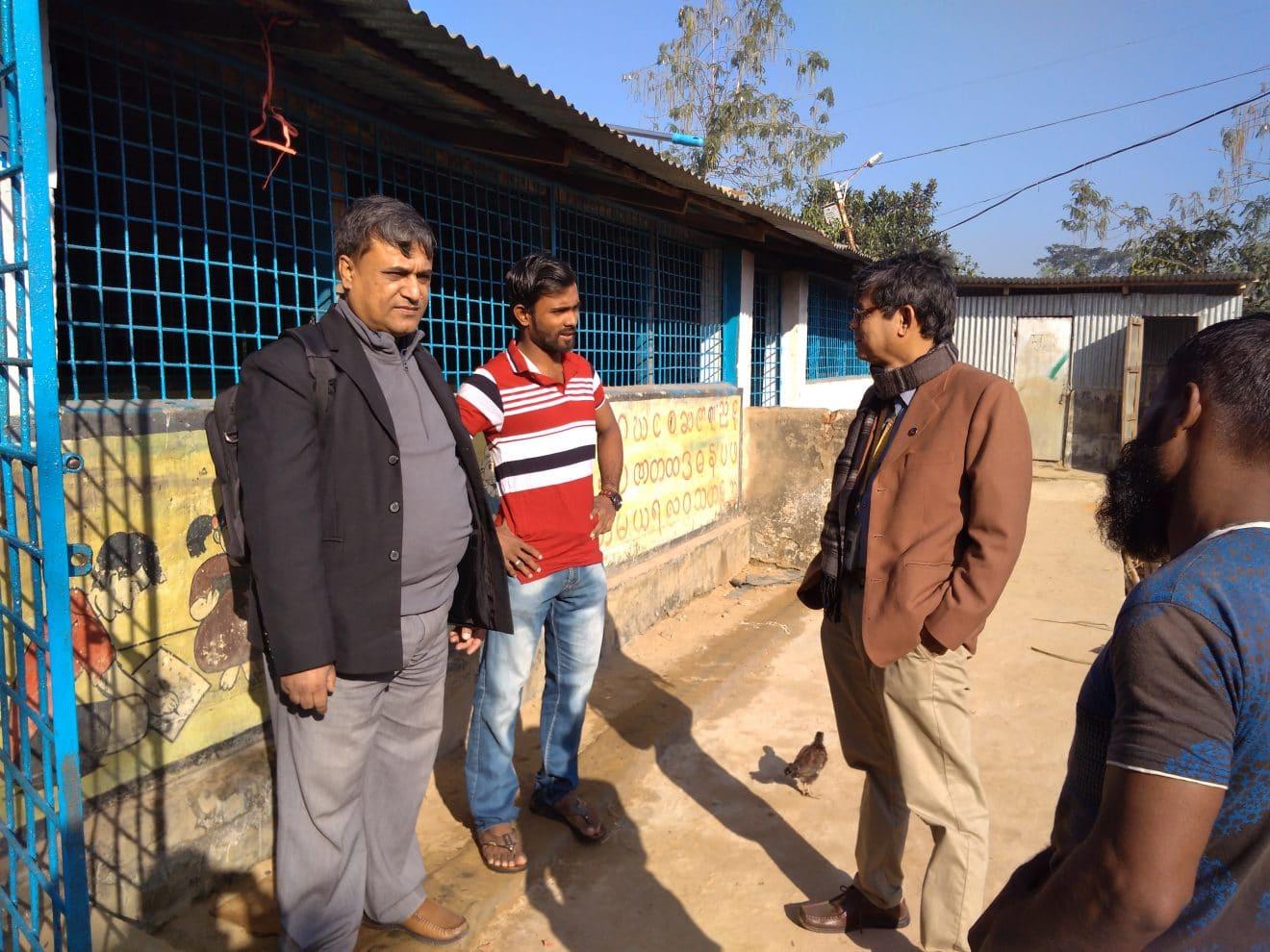 Erster Besuch der Augenärzte bei den geflüchteten Rohingya